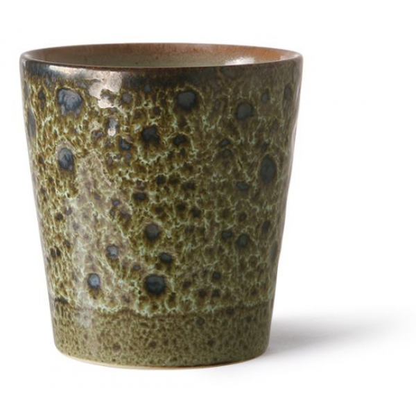 HKliving Ceramic 70's Coffee mug vulcano