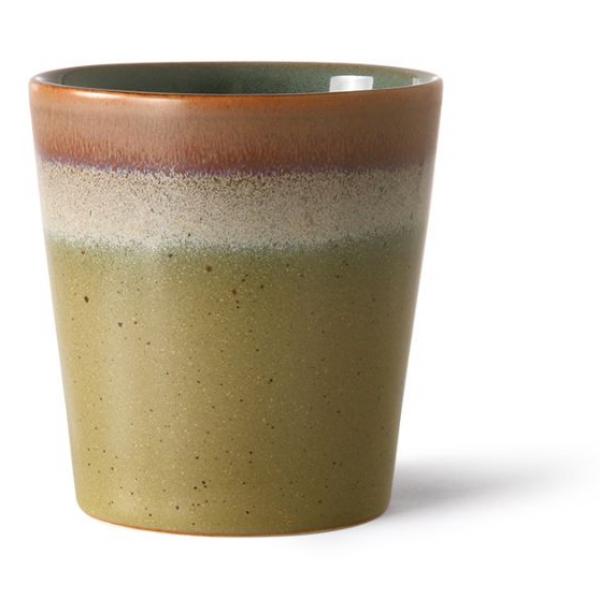 HKliving Ceramic 70's Coffee mug peat