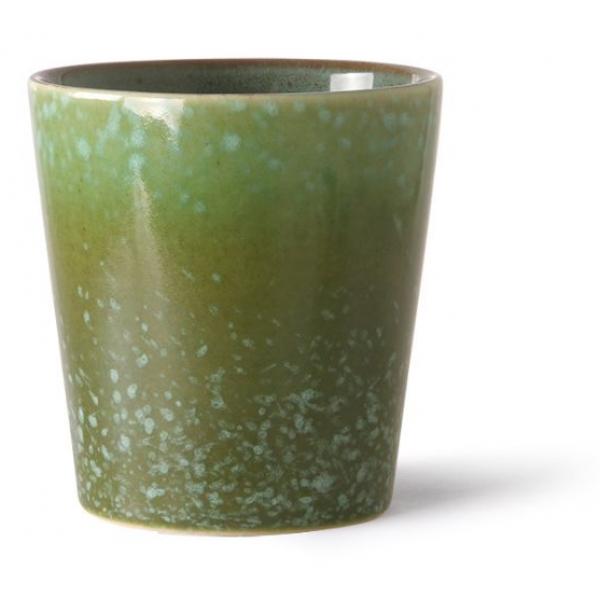 HKliving Ceramic 70's Coffee mug grass