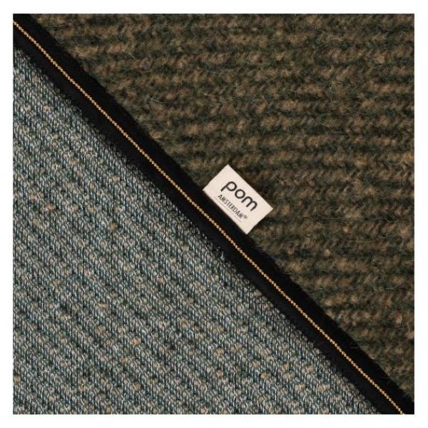 POM Amsterdam SP6585 Shawl Furry Khaki Green Detail